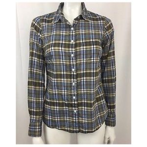 J. Crew Perfect Shirt in Sommers Plaid Size 2